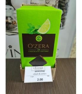 «OZera», шоколад горький с экстрактами лайма и мяты Dark & Lime