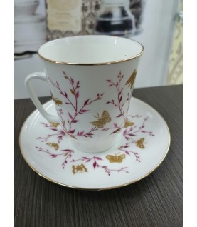 Кофейная пара Императорский фарфоровый завод Розовые веточки, форма Майская, 165 мл, 2 предм.