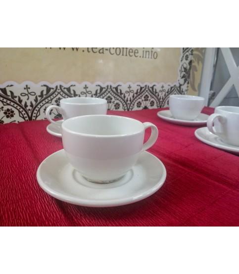 Чайная пара 227 мл, Simplicity White Steelite